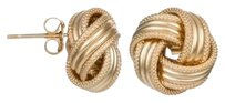 Royal Gold Chain Collection Group LOVE KNOT STUD EARRINGS