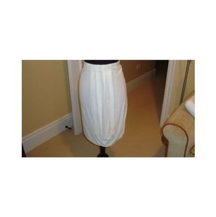 Rozae Nichols Draped Cream Skirt Beiges