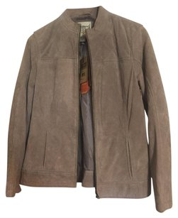 Ruff Hewn Suede Quilted Taupe Leather Jacket