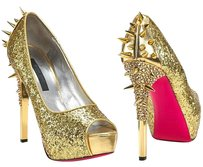 Ruthie Davis David Spikette gold metallic Pumps