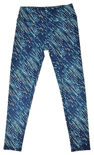 RXB Rbx Active Womens Blue Green Print Leggings Yoga Pants Size