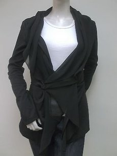 Ryu Ponte Knit Chiffon Black Jacket