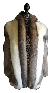 Saga Furs White Fox Fur Coat