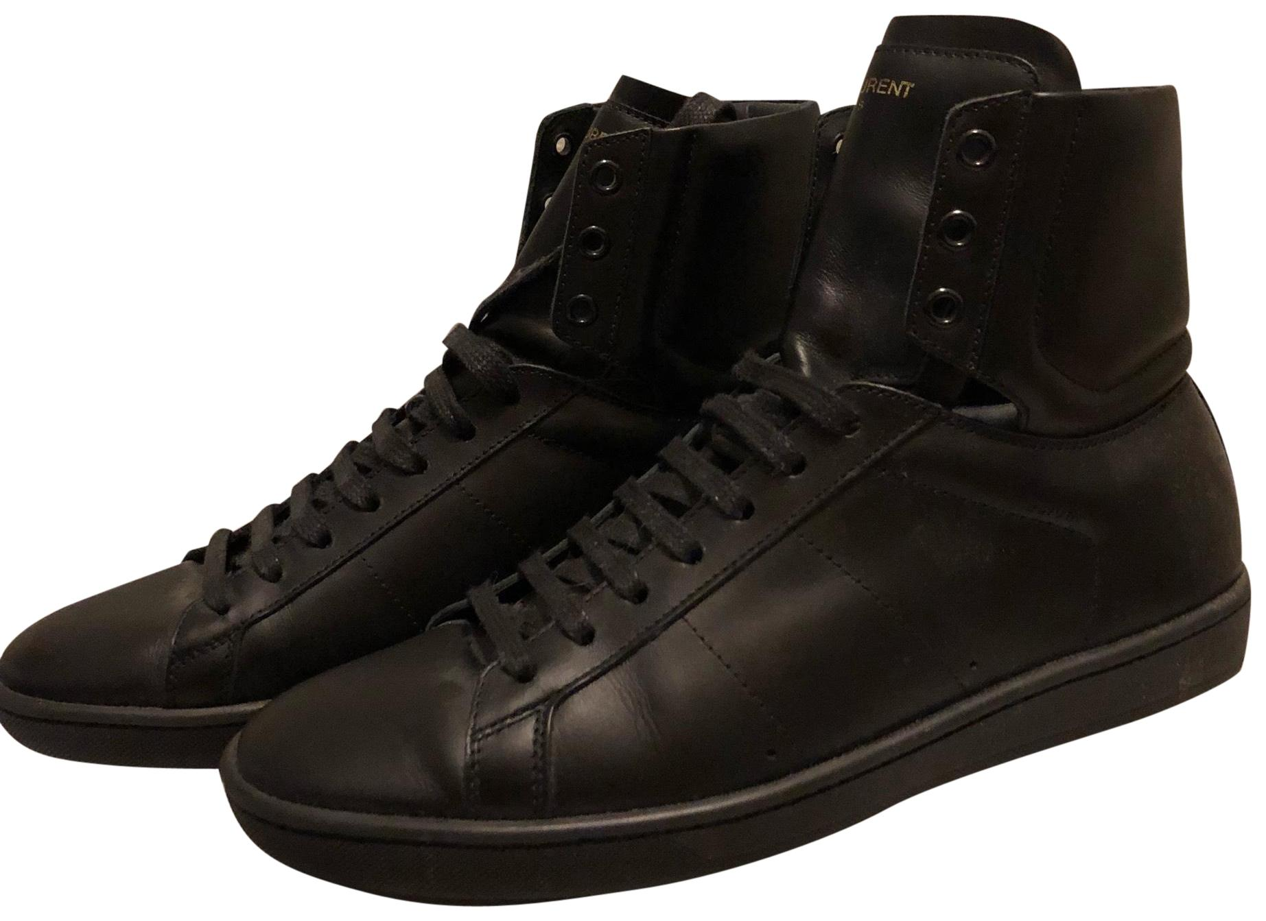 Saint Laurent Black Regular Sneakers Size EU 39.5 (Approx. US 9.5) Regular Black (M, B) 0cf190