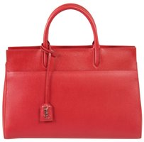 Saint Laurent Cabas Rive Tote in Red