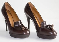 Saint Laurent Yves Ysl Brown Pumps
