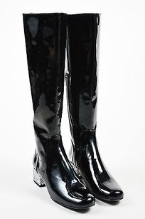 Saint Laurent Patent Black Boots