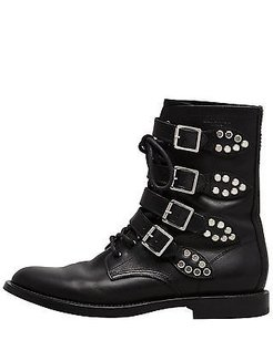 Saint Laurent Rangers Chain Black Boots