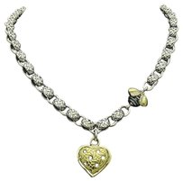 Saint Laurent Saint By Sarah Jane 925 Silver 18k Devora Diamond Lucy Bee Heart Necklace N283