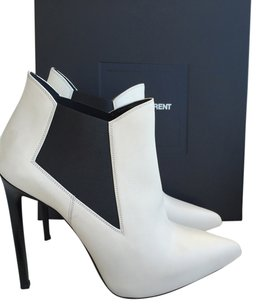 Saint Laurent Pointed Toe Heel Luxury White Boots