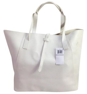 Saks Fifth Avenue Faux Tote in White