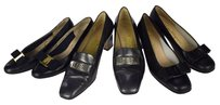 Salvatore Ferragamo Black,Gray Pumps