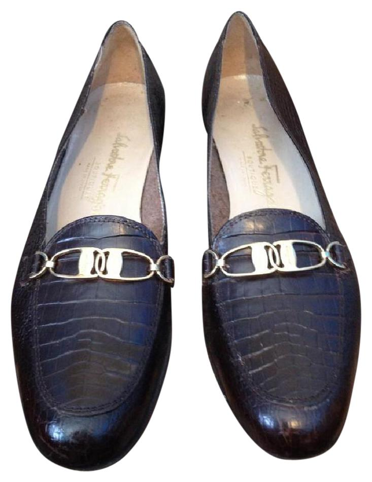 Salvatore Ferragamo Leather Embossed Flats limited edition cheap price fake for sale dfg8j7utMD