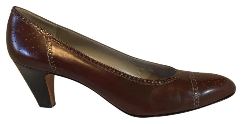 1d0cbe56b1e Salvatore Salvatore Salvatore Ferragamo Brown Width Pumps Size US 11 Narrow  (Aa