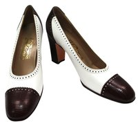 Salvatore Ferragamo Brown white/Brown Pumps