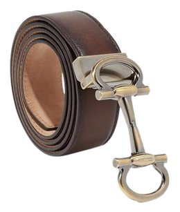 Salvatore Ferragamo NEW without tags Parigi Buckle Belt Brown Size 36 Adjustable