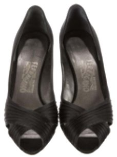 Salvatore Ferragamo Peep Toe Pumps