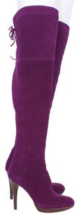 Sam Edelman Pembrook Suede Leather Riding Tall Flat Knee High Jeweled Tone Purple Boots