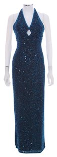 Scala Prom Beaded Lined Evening Halter Dress