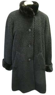 Searle Textured Boucle Oversized W Shearling Accents Coat