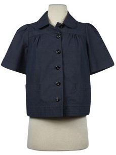 See by Chloé Chloe Womens Basic Cotton Short Casual Blazer Navy Jacket