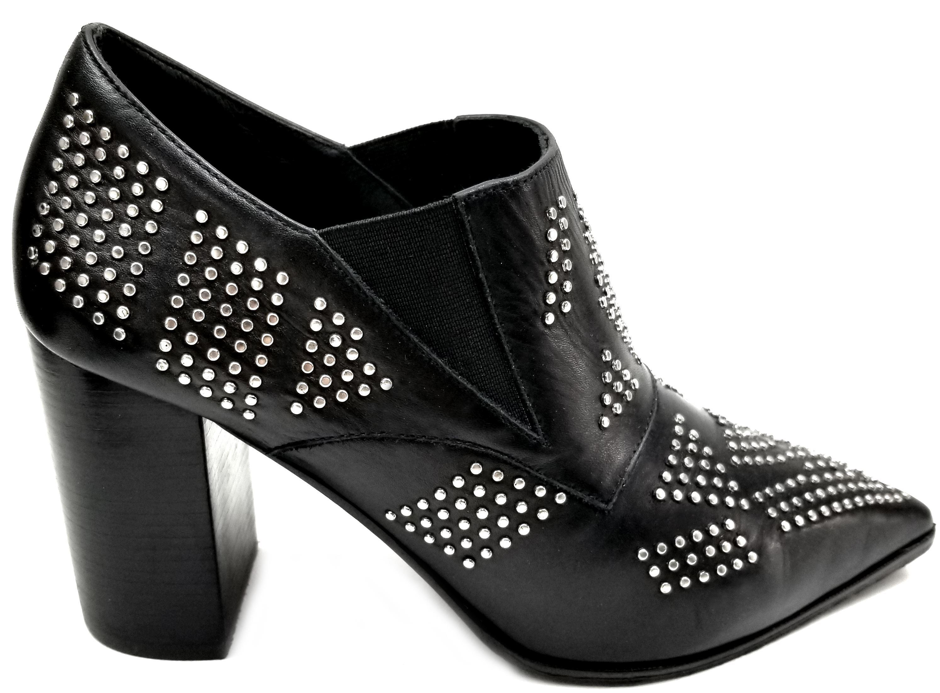 See by Chloé Black Leather Studded Ankle Boots/Booties Size EU 39.5 (Approx. US 9.5) Regular (M, B)