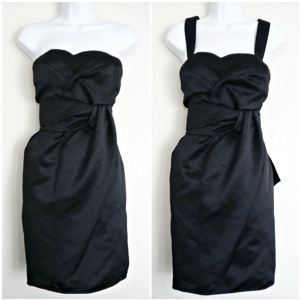 See by Chloé Black Strapless Option Lbd Short Cocktail Dress Size 8 ...