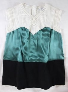 See by Chloé Too Pretty For Words Top White / Green / Black