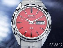 Seiko Seiko Actus Day Date Mens Automatic Vintage Watch Coral Pink Dial T769
