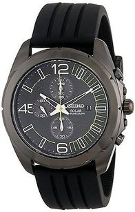Seiko Seiko Chronograph Black Dial Black Ion-plated Mens Watch Ssc205 Hand Fell Off