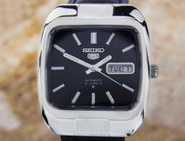 Seiko Seiko Mens Vintage Day Date Automatic 21jewels Dress Watch With Black Dial Dx11