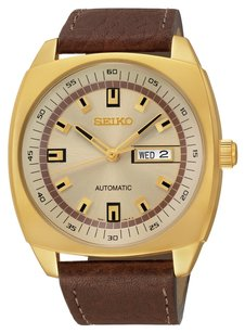 Seiko Seiko SNKN02 Analog Display Automatic Brown dial Men's Brown Leather Watch