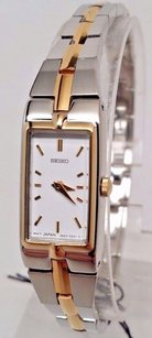 Seiko Seiko Szzc40 Womens Dress White Dial Two Tone Steel Watch