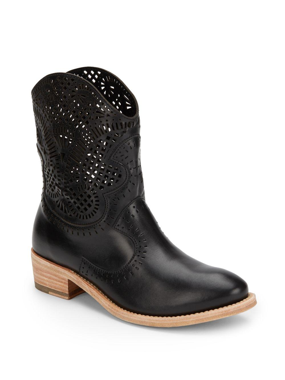 Sergio Rossi Leather Western Boots hgsWXNQVS