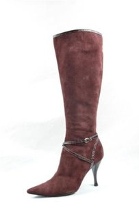 Sergio Rossi Womens Heel 939 Cranberry Red Boots