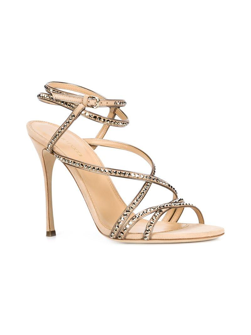 Sergio Rossi stud embellished strappy sandals outlet prices fake cheap online cheap official really cheap kZ3FSEsl