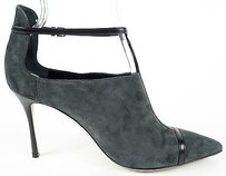 Sergio Rossi Suede Grey / Black Pumps