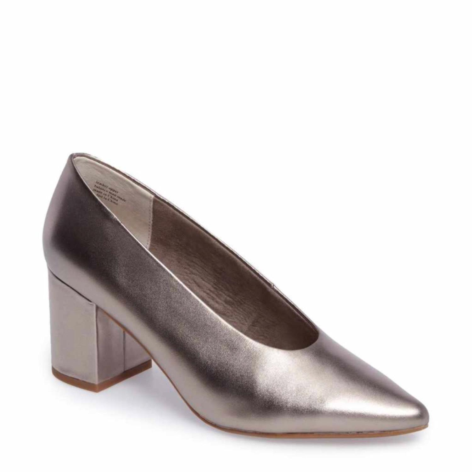 Seychelles Pewter Leather Block Pumps (M, Size US 8.5 Regular (M, Pumps B) 9d19e9