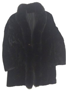 Sheared Black MInk Paw Ranch Mink reversible Coat Fur Coat