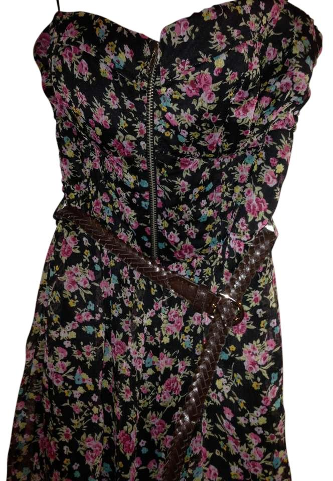 Sheer Floral Dress with shorts undeneath