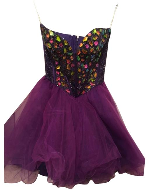 Preload https://item4.tradesy.com/images/sherri-hill-purple-strapless-short-prom-with-rhinestone-corser-top-mini-formal-dress-size-6-s-10557463-0-1.jpg?width=400&height=650
