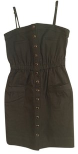 Shoshanna short dress Olive Green on Tradesy