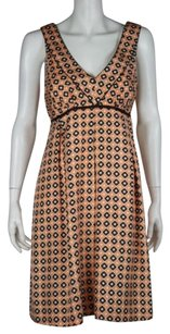 Shoshanna Womens Sheath Silk Geometric Casual Summer Dress