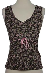 Sigrid Olsen Womens Floral Top Multi-Color