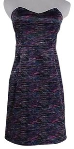 Silence + Noise Womens Pink Printed Strapless Party Dress