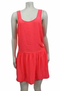 Silence + Noise short dress Neon Pink Silky on Tradesy