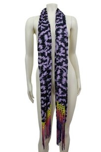 Silence + Noise Silence Noise Urban Outfitters Purple Multi Ombre Macrame Fringe Scarf