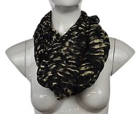 Silence + Noise Silence Noise Womens Black Printed Scarf One Infinity Loose Knit