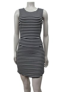 Silence + Noise Striped Ponte Bodycon Mini Urban Outfitters Dress