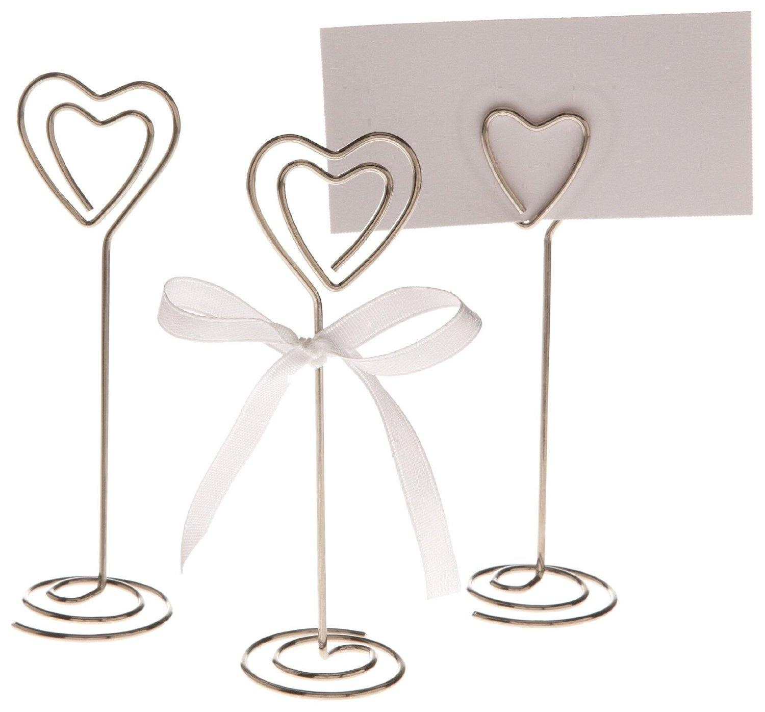 Attirant Silver 50x Wedding Table Card Place Holders Stand Event Placecard Photo  Clips ...